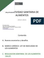 1 Normatividad Sanitaria de Alimentos- Inspectores de Salud Nov 2015