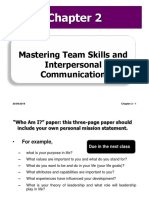 Mastering Team Skills and Interpersonal Communication