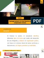 S1-Tipología textual y niveles de comprensión lectora-Estrategias para el desarrollo del nivel literal en la comprensión de textos continuos y discontinuos.pptx