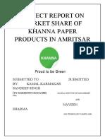 Projec Report on Khanna Paper Mill