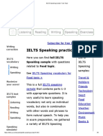 IELTS Speaking Sample_ Food Topic