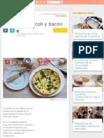 Quiche de brócoli y bacon | Cocina