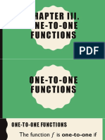One-To-One Functions, Inverse and Coverage of Exam