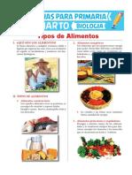 Tipos de Alimentos Para Cuarto de Primaria