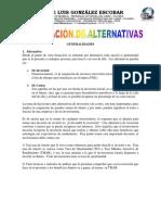 Evaluación de Alternativa
