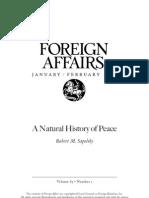 Natural History of Peace