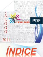 Catálogo promocionales 2011