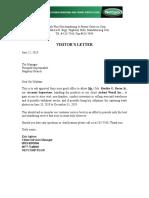 062119 Visit Letter