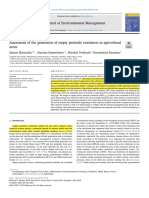 Assessment of the generation of empty pesticide containers in agricultural areas