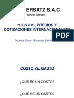 Costos Precios Cotizaciones 8