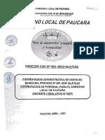 CONTRATACION ADMINISTRATIVA DE SERVICOS BASES DEL PROCESO N° 001-2019-GLP CAS CONTRATACION DE PERSONAL PARA EL GOBIERNO LOCAL DE PAUCARA.docx