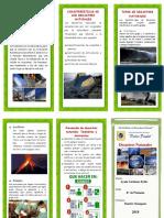 Triptico Desastres Naturales Pedro Paulet
