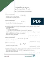 Equacoes e Problemas