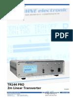 Tr 144 Pro Handbuch