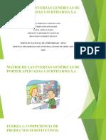 MATRIZ DE LAS FUERZAS GENÉRICAS DE PORTER APLICADAS A SURTIFARMA S.A.pptx