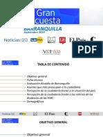 Encuesta de intención de voto a la Alcaldía de Barranquilla