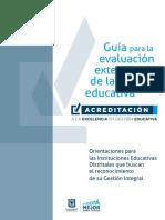 Guía de Evaluación Externa para Instituciones Educativas Oficiales de Bogotá D.C.