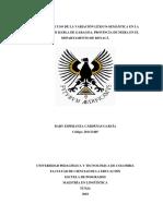 Cárdenas (2018) Tendencia de Uso de La Variación Léxico–Semántica en La Comunidad de Habla de Garagoa, Provincia de Neira en El Departamento de Boyacá