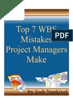 Les 7 erreurs faites par les Chefs de Projet dans le WBS