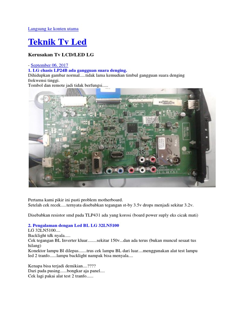 Teknik Servis Tv Led Docx