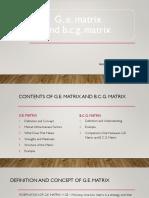 GE & BCG MATRIX Presentation