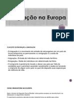 Imigração Na Europa REBECA 2,0