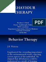 1. Behaviour Therapy