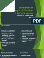 Comparison of Mosque of Qairawan & Zaituna Mosque