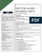 Héctor Alexis Romero Nieto - Cv
