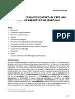 ANIH. Propuesta Marco Conceptual Politica Energetica Venezuela (Sep 2019)