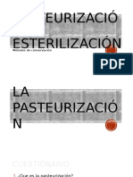 Pasteurizacion y Esterilizacion