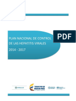Plan Nacional Control Hepatitis Virales 2014 2017
