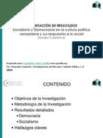 Socialismo y democracia en la cultura política venezolana - Centro Gumilla