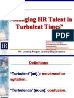 Managing HR in Turbulent Times