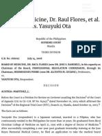 Board of Medicine, Dr. Raul Flores, et al. vs. Yasuyuki Ota | Supra Source