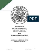 Alarm Statutes 062014 Arkansas