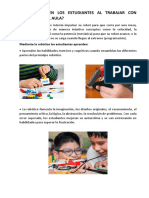 El Aprendizaje de Los Estudiantes Al Trabajar Con Robótica Educativa en El Aula Ccesa007