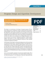 program design and algorithm development