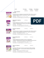 Listado de Productos Tagatesse 2019