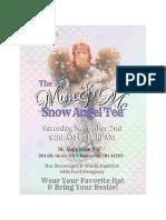 Full Snow Angel Tea Invitation