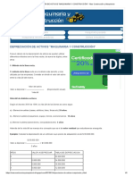 Depreciación de Activos _maquinaria y Construcción_ - Mas Construcción y Maquinaria