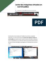 ▷ Formas de conectar dos máquinas virtuales en red VirtualBox