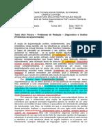 SINTESE - Problemas de Redação – Diagnóstico e Análise (