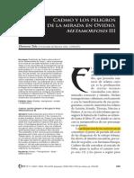 Tola (2007) Cadmo y Los Peligros de La Mirada en Ovidio, Metamorfosis III