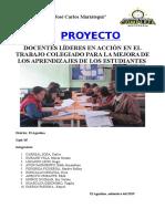 """Proyecto """"Docentes líderes en acción en  el trabajo colegiado para la mejora de los aprendizajes"""""""