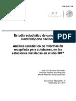 Estudio Estadístico de Campo Del Autotransporte Nacional