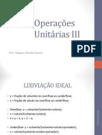 Operações Unitárias III