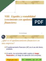 VIII. Liquidez y Rentabilidad
