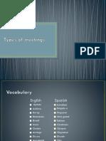 Types of Meetings[2731]