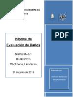 Informe de Evaluacion de daños en Choluteca, Honduras por sismo M